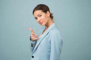 Woman Pointing - Speak Website