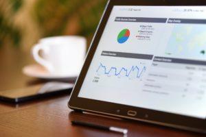 Data graphs on tablet