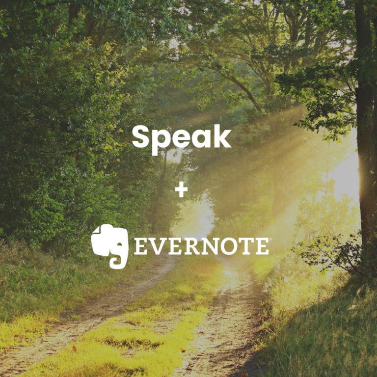 Speak and Evernote Logos