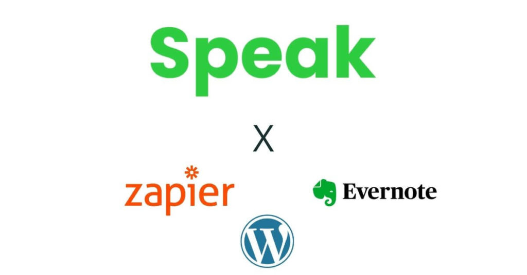 Speak Ai, Zapier, Evernote And WordPress