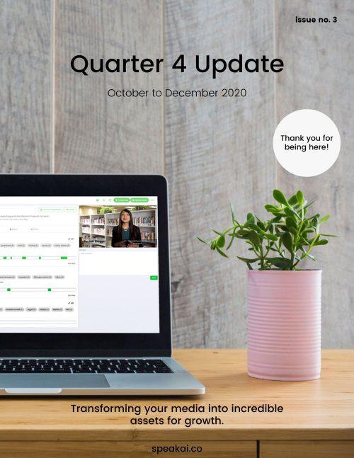 Quarter Update 4 Cover Page Final Speak Ai